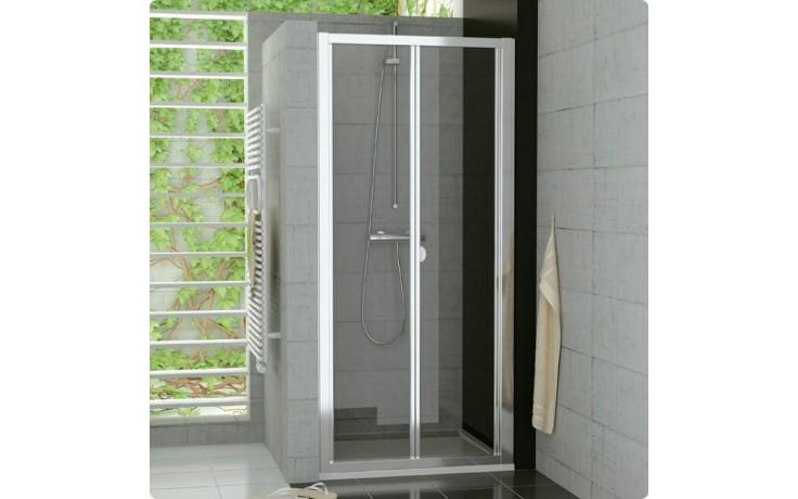 SANSWISS TOP LINE TOPK zalamovací dveře 800x1900mm, aluchrom/čiré sklo Aquaperle