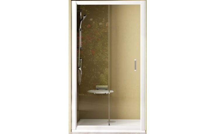 RAVAK RAPIER NRDP2 110 sprchové dveře 1070-1110x1900mm dvoudílné, posuvné, pravé, satin/transparent 0NND0U0PZ1