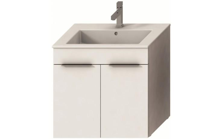 Nábytek skříňka s umyvadlem Jika CUBE s 2 dveřmi 65 cm bílá