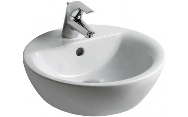 Umyvadlo nábytkové Ideal Standard s otvorem Connect Sphere na desku 43x43x16,5 cm bílá+Ideal Plus
