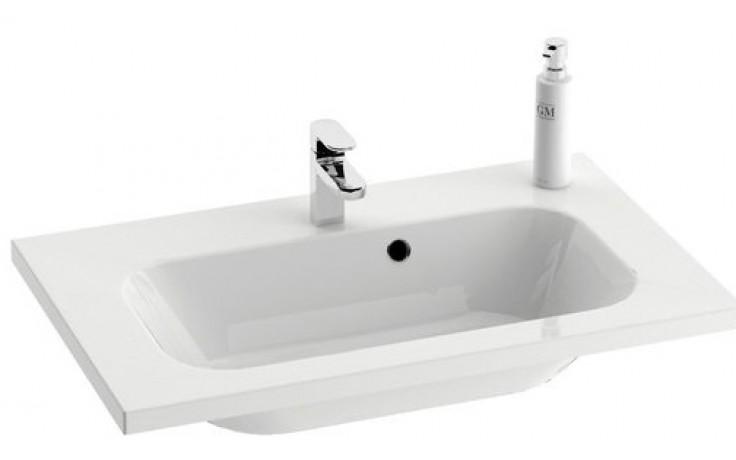 RAVAK CHROME umyvadlo nábytkové 700x490x165mm, bílá XJG01270000