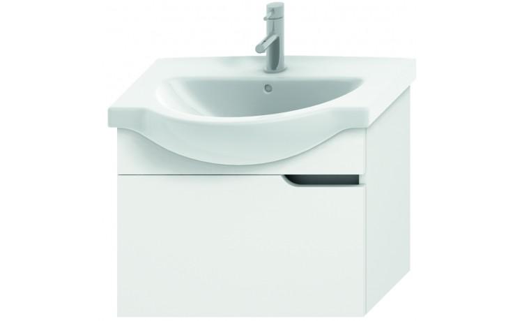 JIKA MIO umyvadlová skříňka pro nábytkové umyvadlo 630x340mm 1 zásuvka, bílá/bílá