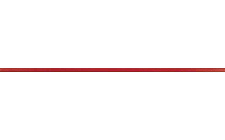 RAKO CHARME listela reliéfní 60x1,5cm červená WLASW003
