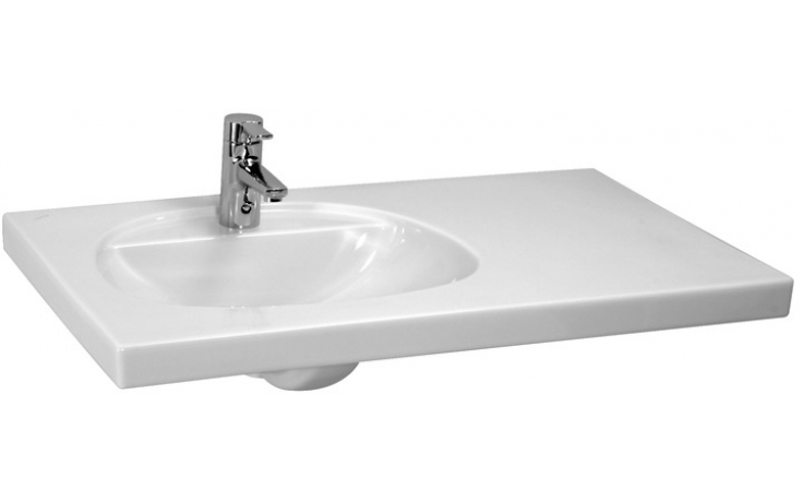 LAUFEN TALUX asymetrické nábytkové umyvadlo 910x555mm s otvorem, bílá 8.1467.1.000.104.1