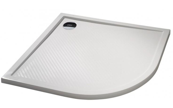 Vanička litý mramor Huppe čtvrtkruh Purano 80x80 cm bílá
