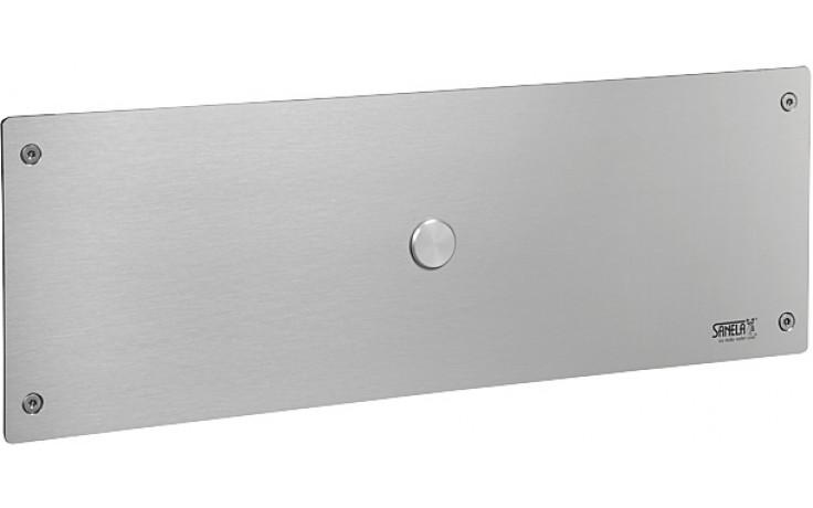 SANELA SLW02PA piezo splachovač WC, 24V DC, montážní rám s nádržkou SLR 21, antivandal, nerez