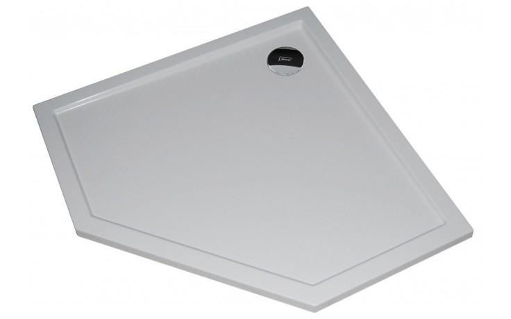 Vanička litý mramor Huppe pětiúhelník Purano 90x90 cm bílá