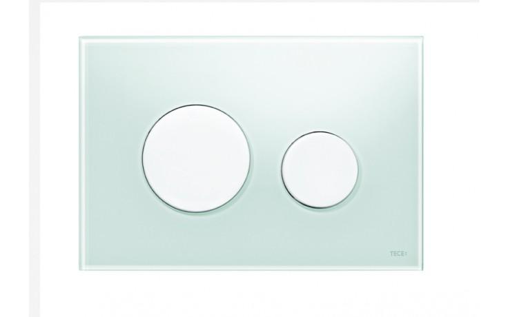 Předstěnové systémy ovládací desky TECE TECEloop  sklo zelená/bílá