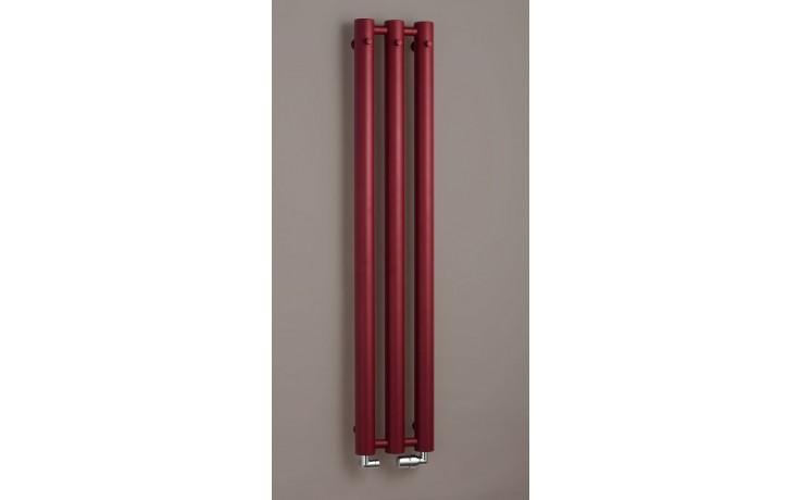 Radiátor koupelnový PMH Rosendal R70/3 - 292/1500  strukturální bordó