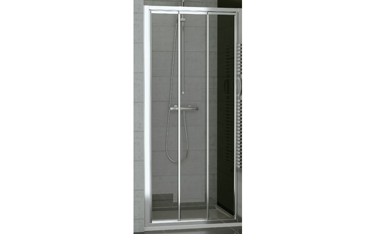 SANSWISS TOP LINE TOPS3 sprchové dveře 1200x1900mm, třídílné posuvné, aluchrom/sklo Durlux