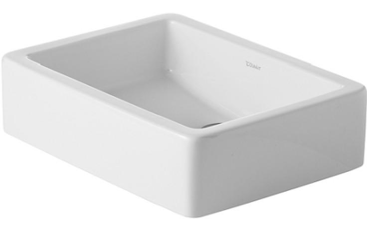 Umyvadlo speciální Duravit - Vero broušené bez přetoku bez plochy pro armaturu 50x38 cm bílá+wondergliss