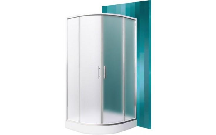 ROLTECHNIK HOUSTON NEO/900 sprchový kout 900x1900mm R550 čtvrtkruh, s dvoudílnými posuvnými dveřmi, brillant/matt glass