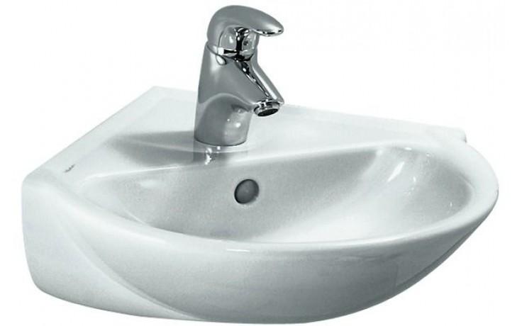 LAUFEN PRO B rohové umývátko 495x500mm s otvorem, bílá