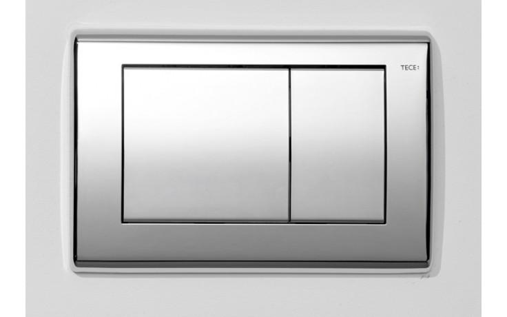 Předstěnové systémy ovládací desky TECE TECEplanus dvojčinné  lesklý chrom