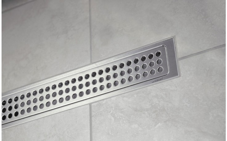 Žlab podlahový Unidrain - Odtokový žlab prostorový 3004 délka 900mm nerez
