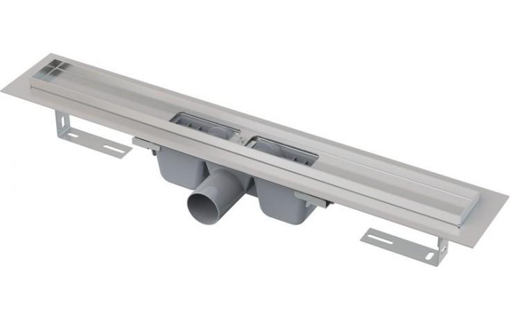 CONCEPT liniový podlahový žlab 750mm, s okrajem pro perforovaný rošt, nerez
