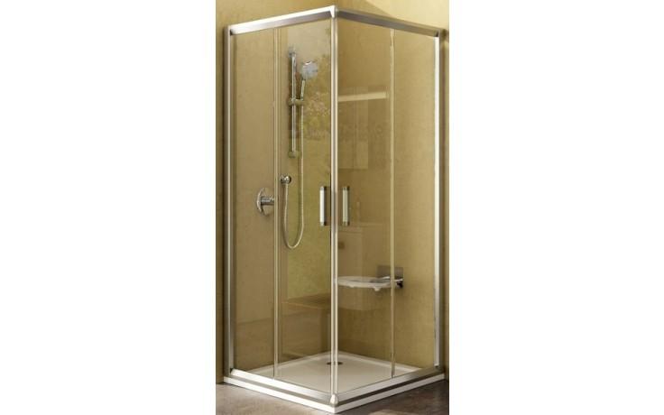 RAVAK RAPIER NRKRV2 80 sprchový kout 800x800x1900mm rohový, posuvný bílá/transparent 1AN40U00Z1
