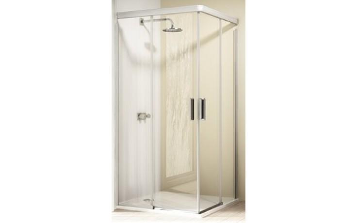 Zástěna sprchová dveře Huppe sklo Design elegance 90x90x190 cm stříbrná matná/čiré AP