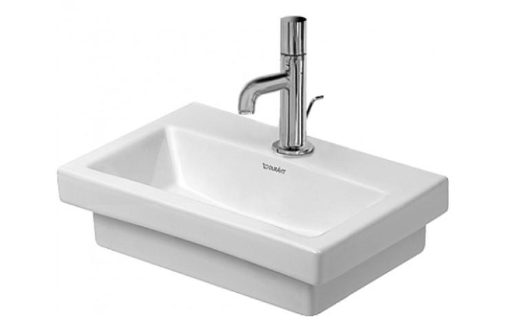 Umývátko klasické Duravit s otvorem 2nd floor 40x30 cm bílá+wondergliss