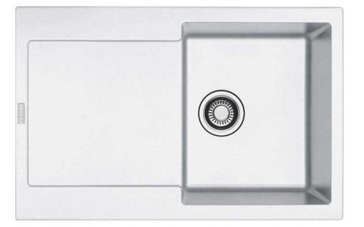 FRANKE MARIS MRG 611 dřez 780x500mm s odkapávačem, Fragranit DuraKleen Plus/bílá led