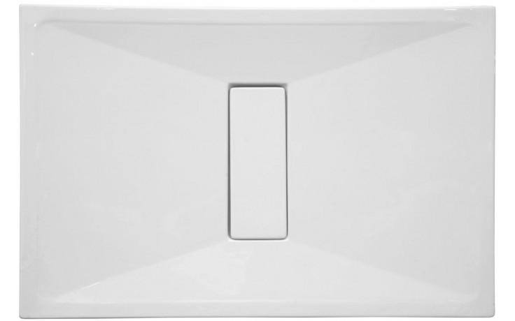 Vanička plastová Vitra obdélník Slim 120x80 cm bílá