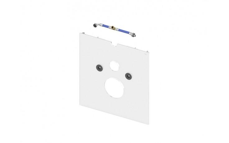 Příslušenství k předstěnovým syst. TECE - TECElux 9 650 102 skleněná deska pro toalety se sprch.sedátkem  bílé sklo
