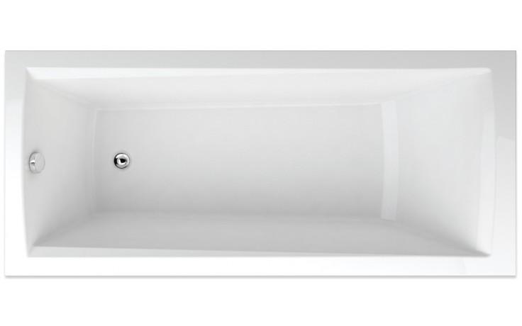 TEIKO TREND 160/75 vana 160x75x45cm, obdélník, akrylát, bílá