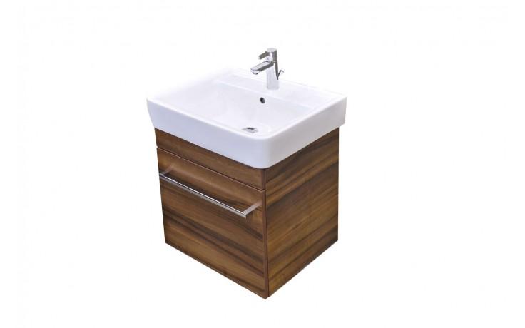 Nábytek skříňka s umyvadlem Eden Rubín závěsná 53x54x44,5 cm bílá lesklá/bílá lesklá
