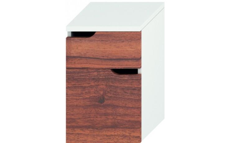 JIKA MIO střední skříňka 363x340x571mm se 2 zásuvkami, bílá/ořech 4.3418.1.171.506.1