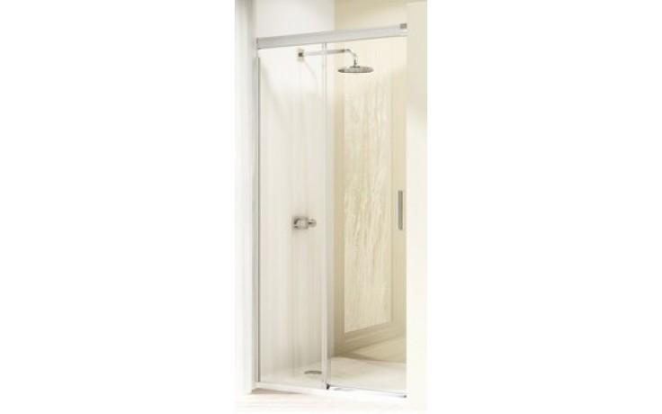 Zástěna sprchová dveře Huppe sklo Design elegance 900x1900 mm stříbrná matná/čiré AP/Soft