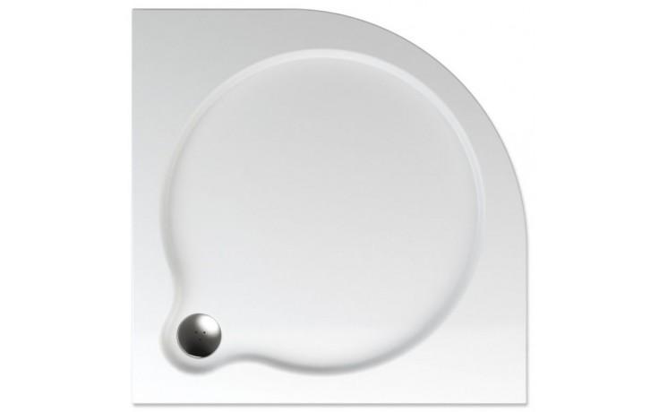 TEIKO VESTA 80 sprchová vanička 80x80x3,5cm, R55cm, čtvrtkruh, akrylát, bílá