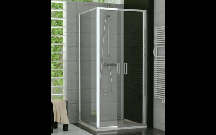 SANSWISS TOP LINE TOPP2 sprchové dveře 800x1900mm, dvoukřídlé, aluchrom/čiré sklo Aquaperle