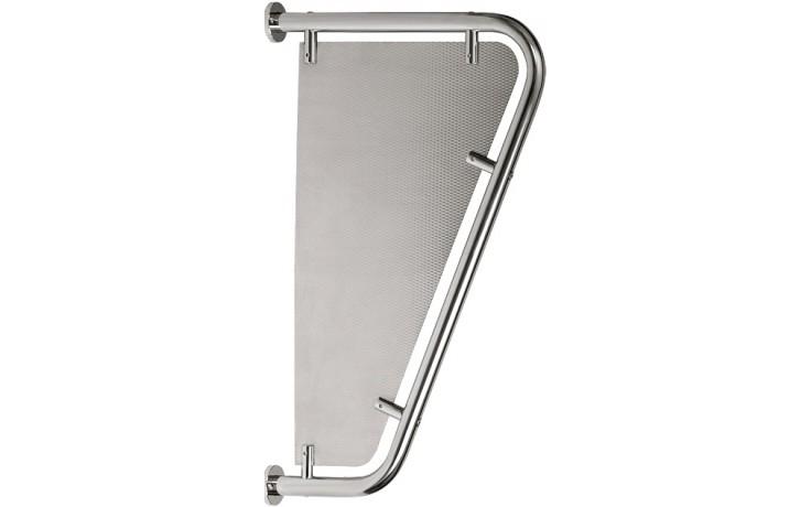 SANELA SLZN13 WC dělící stěna 410x180x720mm, k pisoárům, nerez