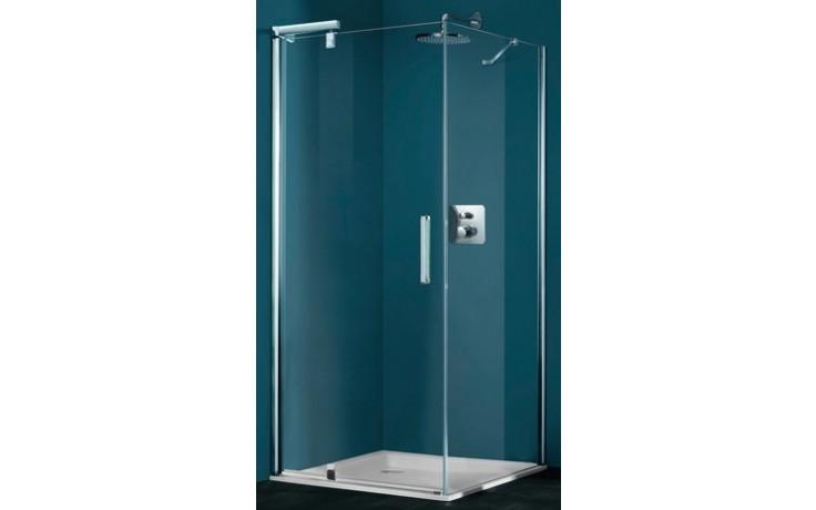 Zástěna sprchová dveře Huppe sklo Refresh pure 1000x1943mm titanová stříbrná/Karo AP