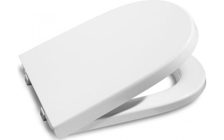 ROCA MERIDIAN poklop bidetu, odnímatelný, s antibakteriální úpravou, Slowclose , s nerezovými úchyty, bílá 78062A2004
