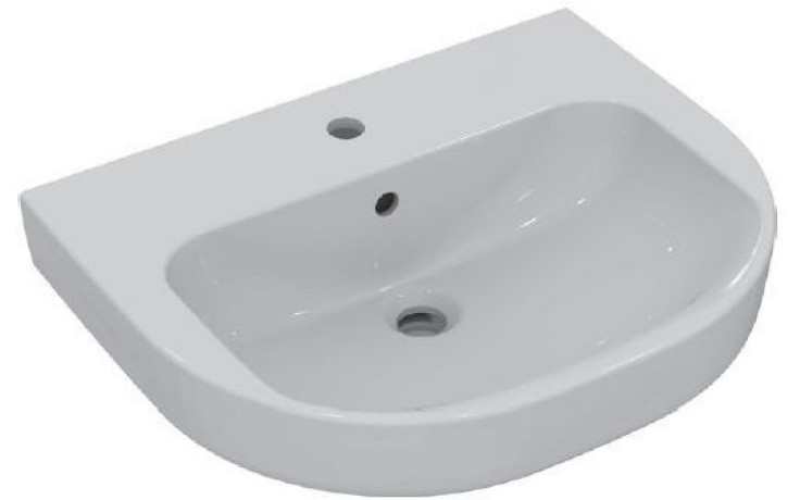 Umyvadlo klasické Ideal Standard s otvorem Playa 60x48 cm bílá