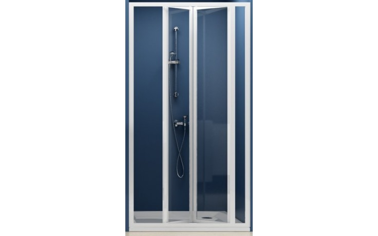 Zástěna sprchová dveře Ravak sklo SDZ3-100 zlamovací 100 bílá/transparent