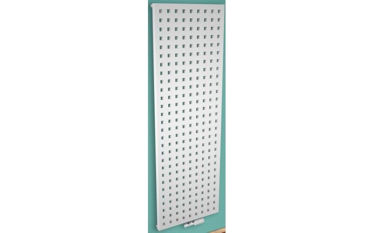 CONCEPT 200 FLUTE radiátor koupelnový 890W designový, středové připojení, světle šedá