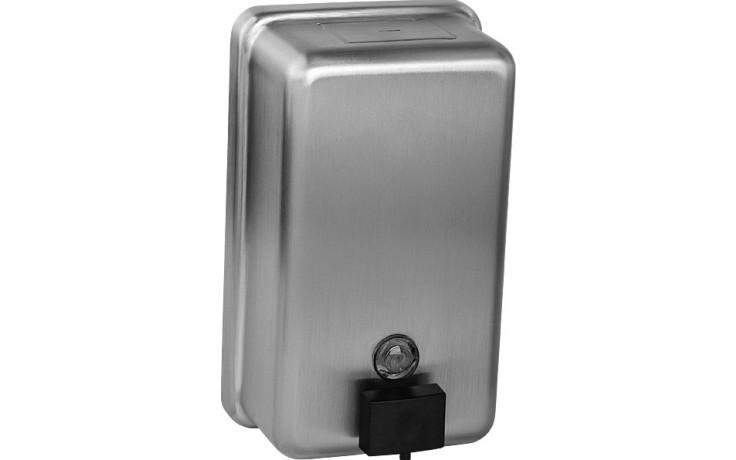 SANELA SLZN39 dávkovač tekutého mýdla 1,2l, svislý, nerez mat