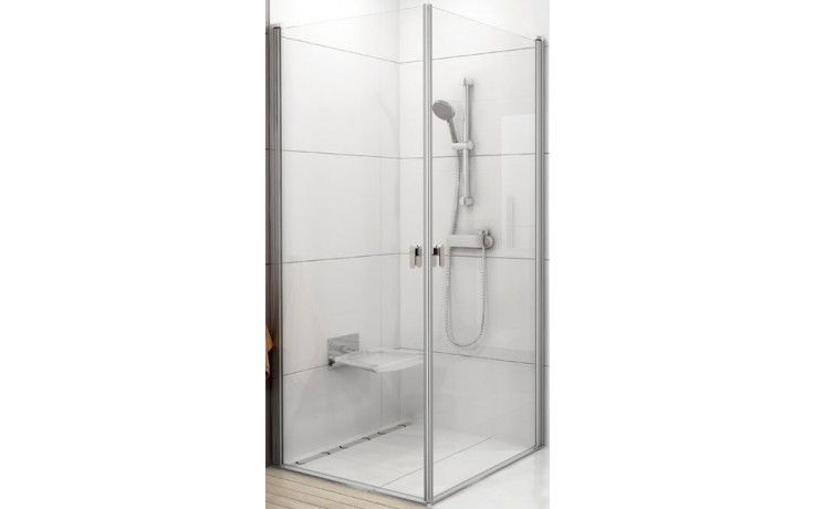 RAVAK CHROME CRV1 80 sprchový kout 780-800x1950mm rohový satin/transparent 1QV40U01Z1