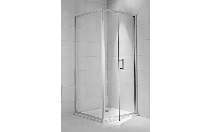 Zástěna sprchová boční Jika sklo Cubito pure 100x195 cm stříbrná lesklá-transparent