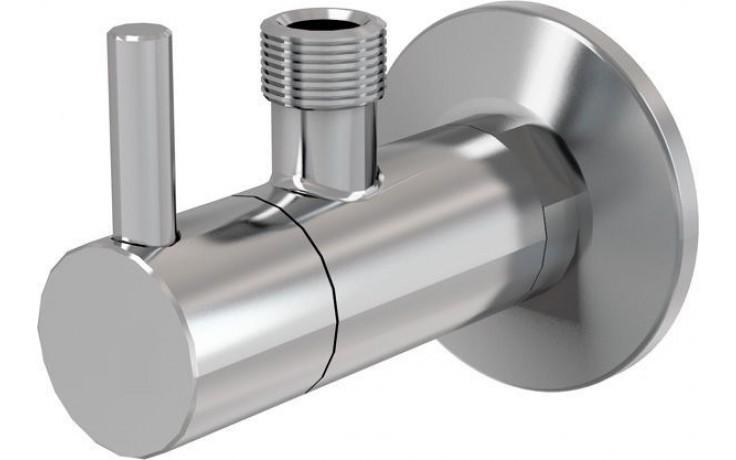 """EASY rohový ventil 1/2""""x3/8"""" s filtrem, kulatý, chrom"""