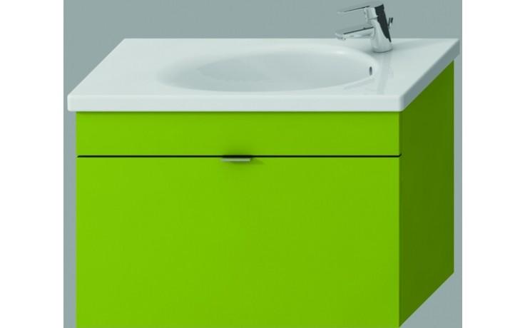 JIKA TIGO skříňka s umyvadlem 770x370mm s 1 zásuvkou, zelená
