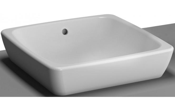 Mísa umyvadlová Vitra bez otvoru Metropole s přepadem 39,5x40 cm bílá
