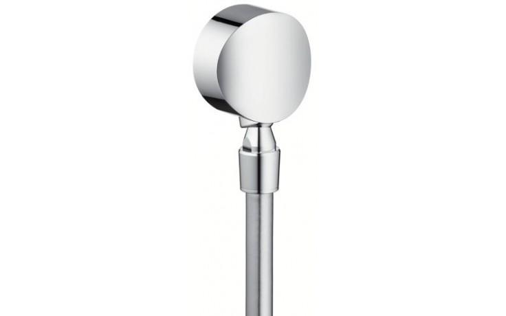 HANSGROHE přípojka hadice FixFit S se zpětným ventilem a kulovým kloubem chrom 27506000