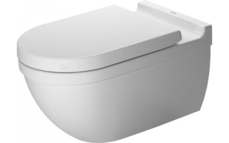 DURAVIT STARCK 3 závěsný klozet 370x620mm hluboké splachování, bílá/wonder gliss 22260900001