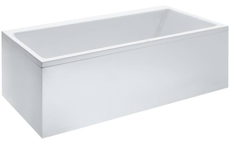 LAUFEN PRO vestavná vana 1800x800mm akrylátová, s konstrukcí, s L-panelem levým, bílá 2.3295.5.000.000.1