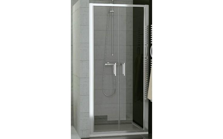 SANSWISS TOP LINE TOPP2 sprchové dveře 800x1900mm, dvoukřídlé, matný elox/čiré sklo