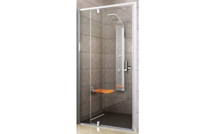 Zástěna sprchová dveře Ravak sklo Pivot PDOP2 1100x1900 mm bílá/bílá/transparent