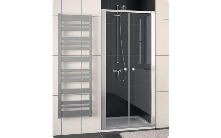 Zástěna sprchová dveře Ronal ECO-Line ECP2 0900 01 22 900x1900 mm matný elox/durlux